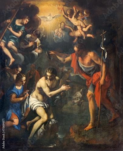 Fotomural Padua - Baptism of Christ scene in church San Benedetto