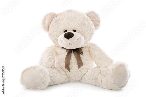 Teddy Bär isoliert auf weiß #70701041