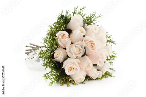 Fotografia white roses bouquet