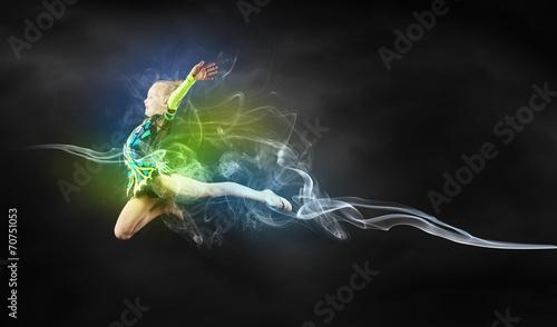 Obraz na plátně Gymnast girl