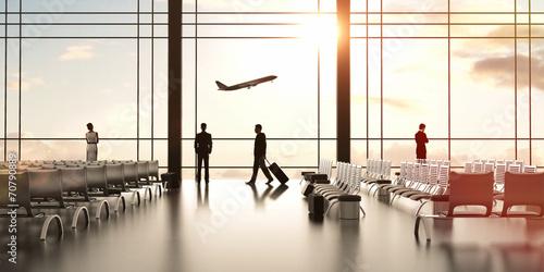 Fototapeta airport with people
