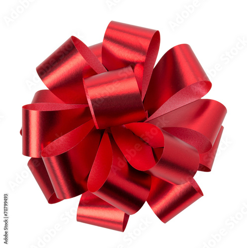 red bow isolated on the white background