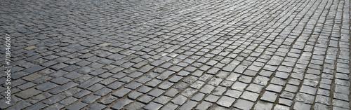 Obraz na plátne Old cobblestone pavement.