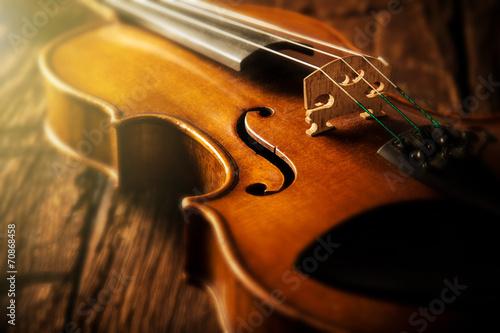Leinwand Poster Violine im Vintage-Stil