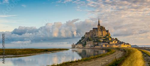 Photo Panoramic view at morning Mont Saint-Michel
