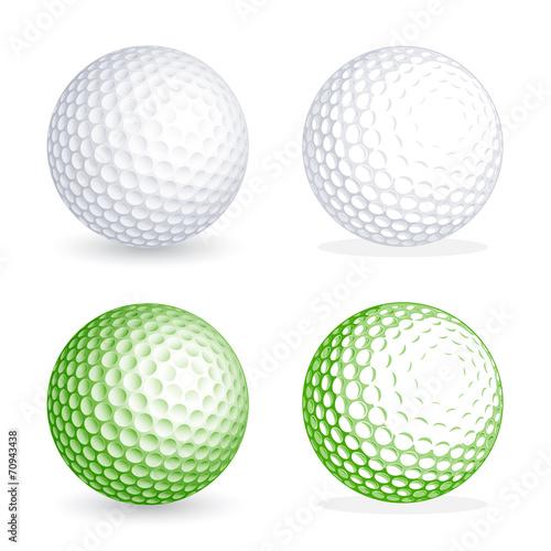 Fotografie, Tablou Vector golf Ball