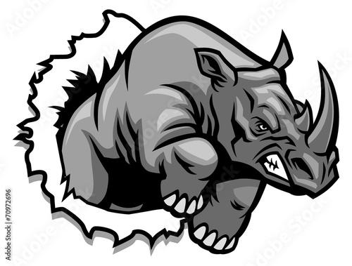 Carta da parati rhino ripping