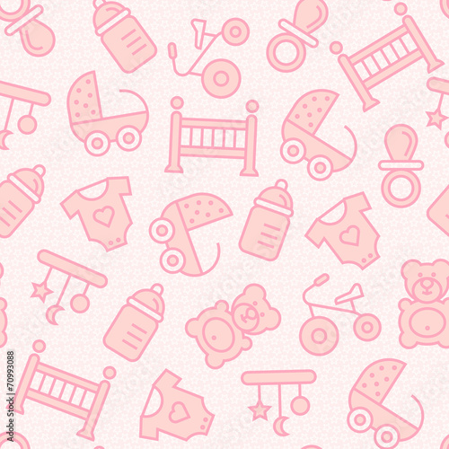 Baby seamless background. #70993088