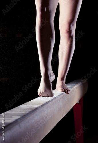 Fototapeta Stop gymnastka na kladině