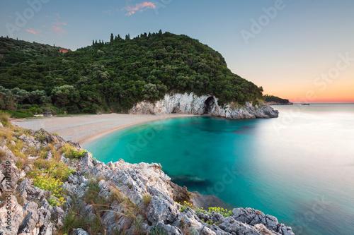 Leinwand Poster einsame Bucht - Korfu