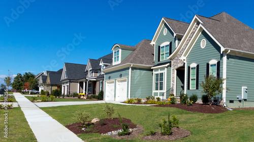 Obraz na plátně Street of residential homes