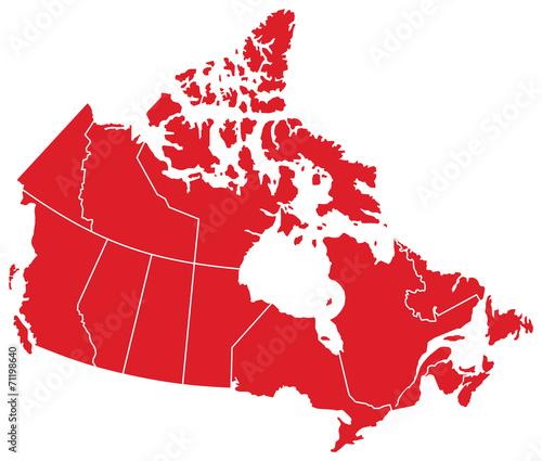Fotografie, Obraz Canada Map