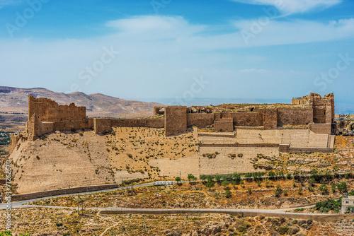 Al Karak kerak crusader castle fortress Jordan Fototapeta