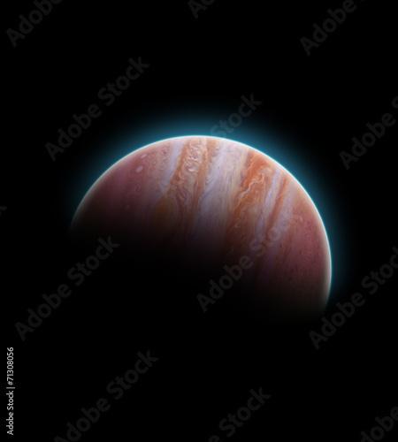 Jupiter sunrise.