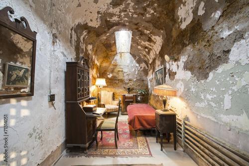 Obraz na plátne Eastern state penitentiary in Philadelphia. Al Capone's cell.