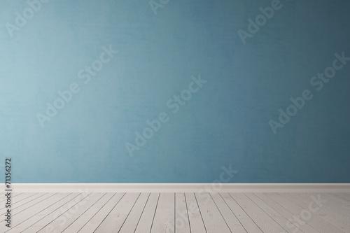 Fotografie, Obraz Blaue Wand aus Beton
