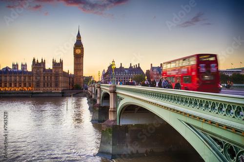 Westminster Bridge London London Eye Big Ben Tower Tower Bridge Doppelstockbus