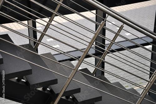 Canvas-taulu Treppe mit Edelstahlgeländer