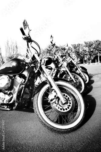 Bike exhibition, outdoors