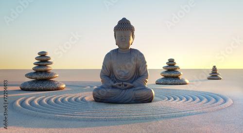 Foto Buddha in Abendstimmung