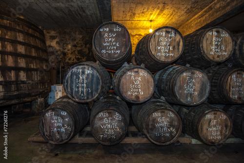 Fotografia Beczki Sherry w Jerez bodega, Hiszpania
