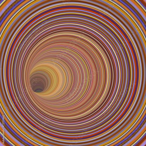 3d odpłacają się tunelowy wir w wielokrotności pasiastym kolorze