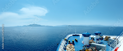 Photo Summer sea view from ferry (Greece)