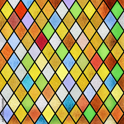 Obraz na plátne colorful abstract stained glass window background