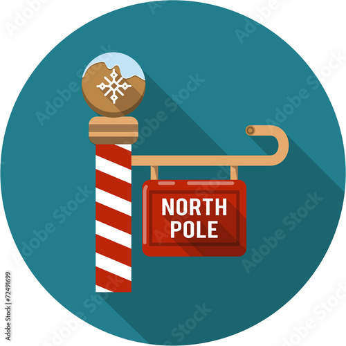 Obraz na płótnie Vector North Pole Sign