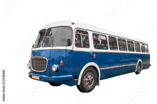 Old bus + clipping path