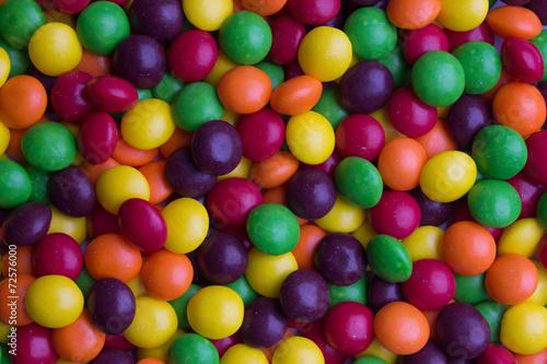 Valokuva Background of coated multicolored candy