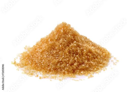Fotografie, Obraz Brown sugar on white background