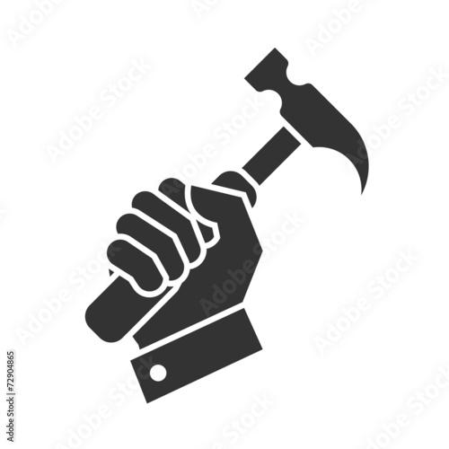 Obraz na plátne hand hammer icon