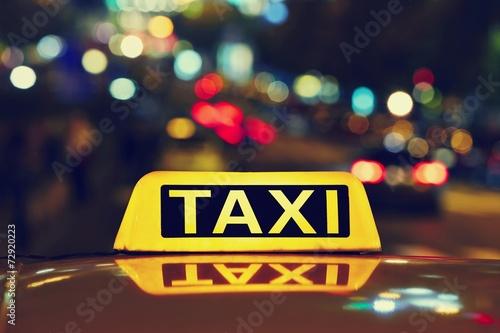 Photo Night taxi