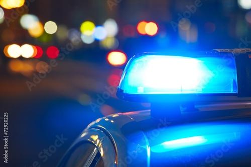 Carta da parati Police siren