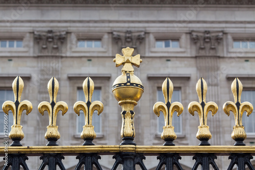 Photo Detail of the gate of Buckingham Palace