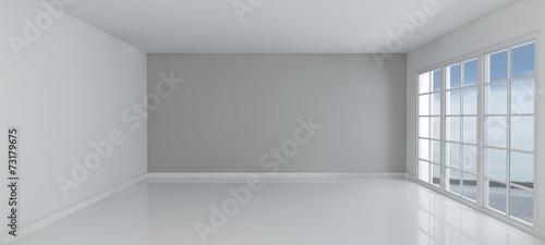 Canvas Print Empty Room with Windows
