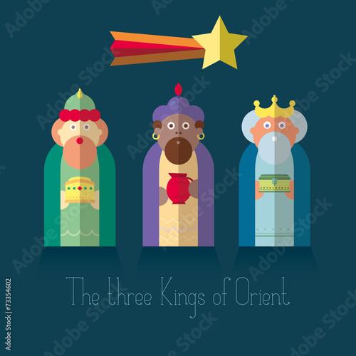 Obraz na płótnie The three Kings of Orient wisemen