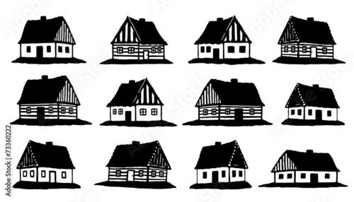 Fotografia hut silhouettes