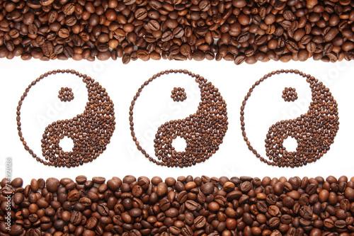 Canvas Print jing jang of coffee