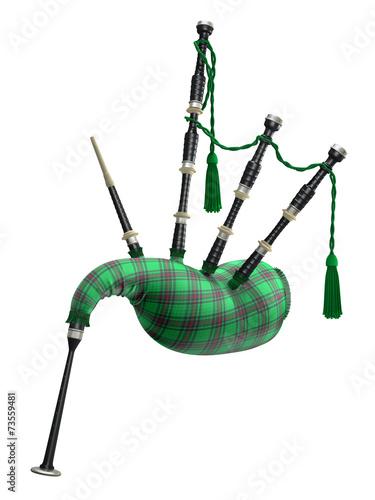 Slika na platnu Green bagpipe