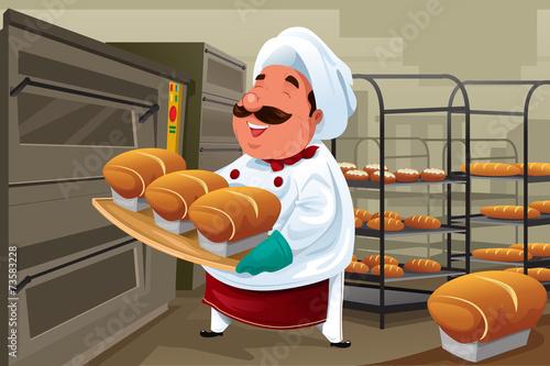 Obraz na płótnie Baker in the kitchen