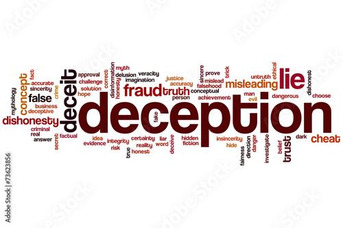 Billede på lærred Deception word cloud