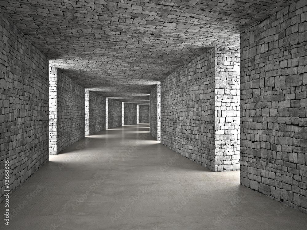 Fototapeta premium abstrakcyjny tunel