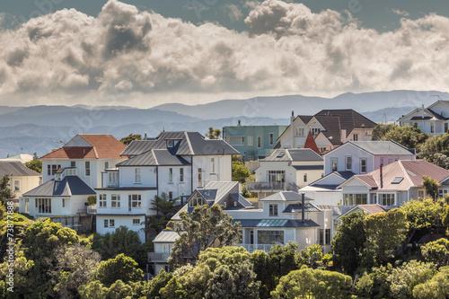 A city scape of Wellington, New Zealand