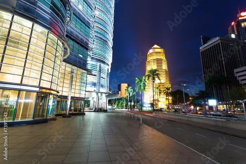 Fototapeta premium night cityscape and buildings in kuala lumpur,Malaysia