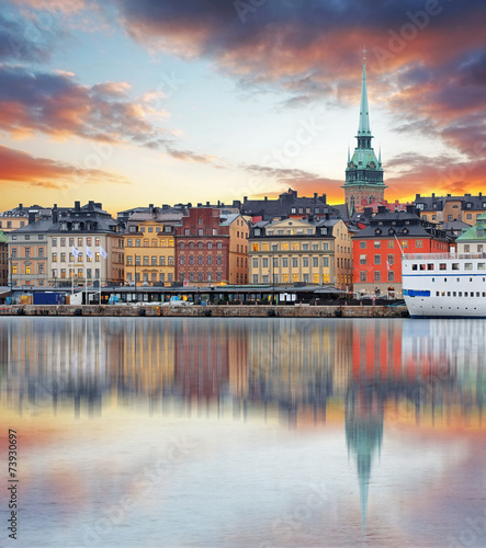 Photo Stockholm, Sweden - panorama of the Old Town, Gamla Stan