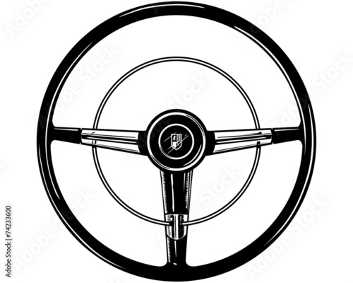 Retro Steering Wheel Fototapet