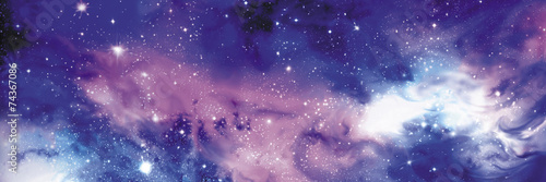 Cosmos banner with stars