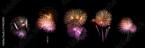 Photo beautiful fireworks over sky